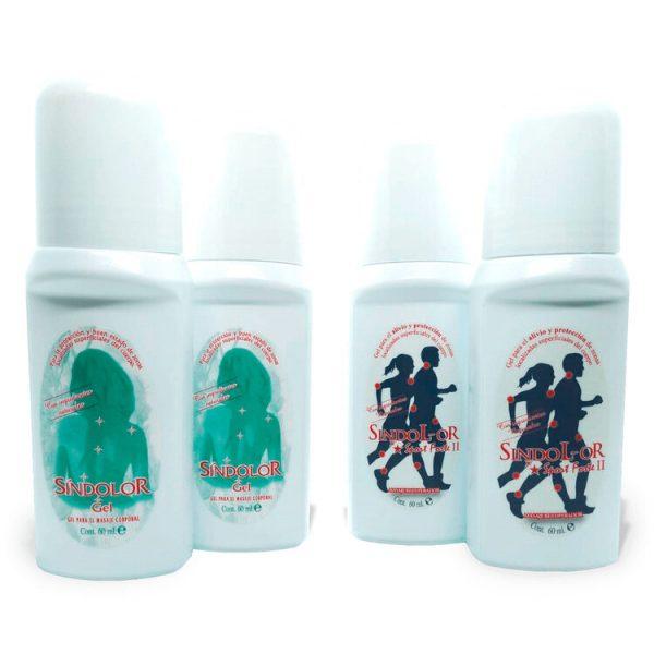 Pack 2 sindolor gel roll on 60ml + 2 sindolor gel roll on sport forte 60ml