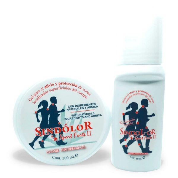 Pack sindolor gel roll on sport forte 60ml + sindolor gel sport forte II tarrina 200ml